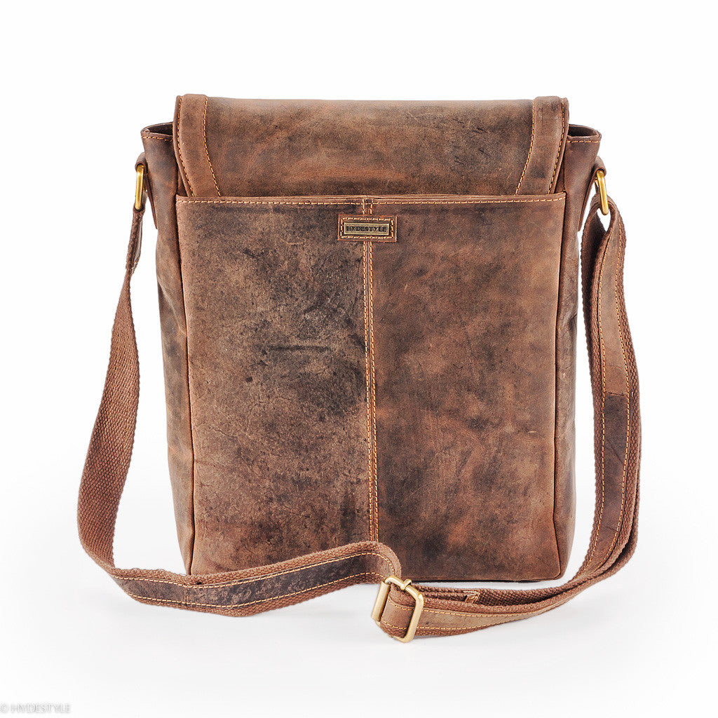 Hydestyle Venator portrait leather man bag  UM05 Brown e4a40bbc6d94f
