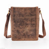 Hydestyle Venator portrait leather  man bag  #UM05 Brown