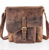 Venator distressed hunter vintage messenger bag  #UM17 Brown
