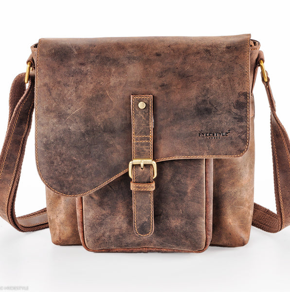 45572eea8e37e Venator distressed hunter vintage messenger bag  UM17 Brown