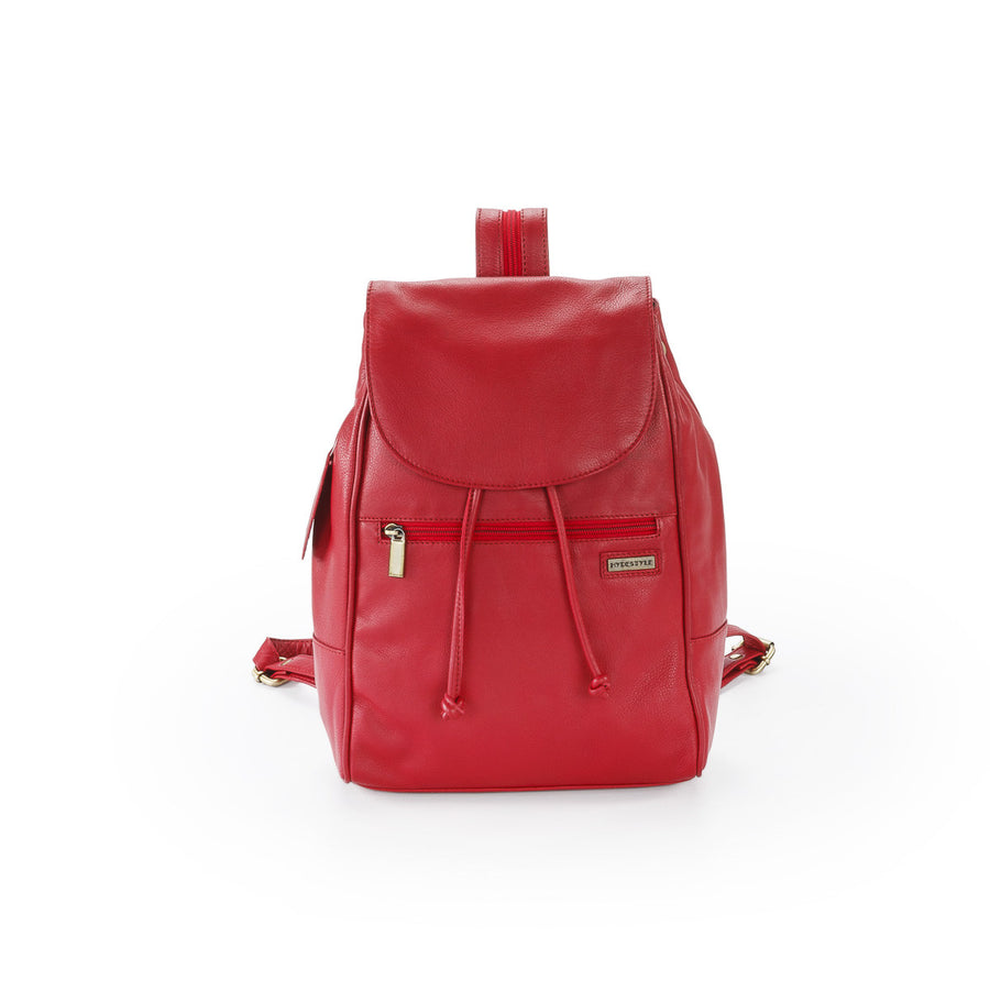 Pratico - piccolo leather backpack #UM35 Red