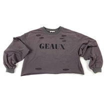 Load image into Gallery viewer, Geaux Crop Long Sleeve