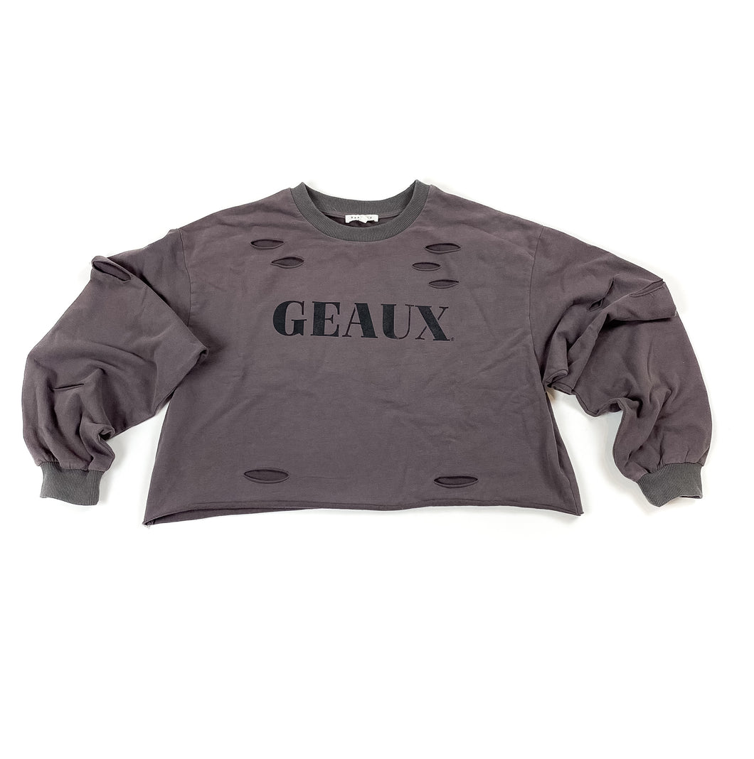 Geaux Crop Long Sleeve