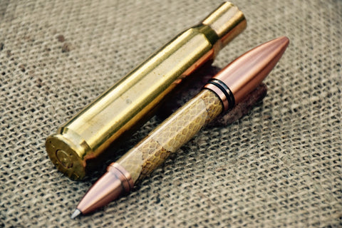 50 Caliber Pen in Copperhead Snake Hide