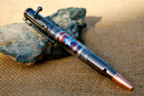 Bolt Action Pen in Captain America's Shield Decal