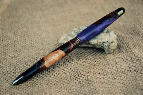 Touch Stylus Pen in Hybrid Purple Acrylic and Wood