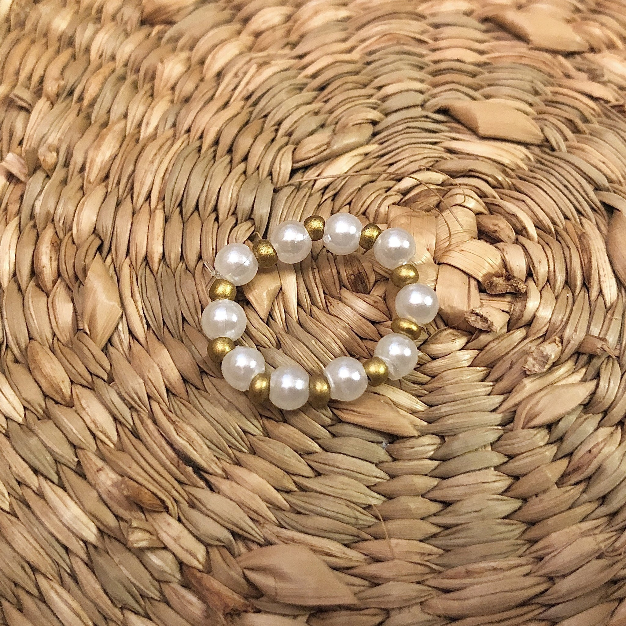 Medium Pearls with Gold Accents - Ring