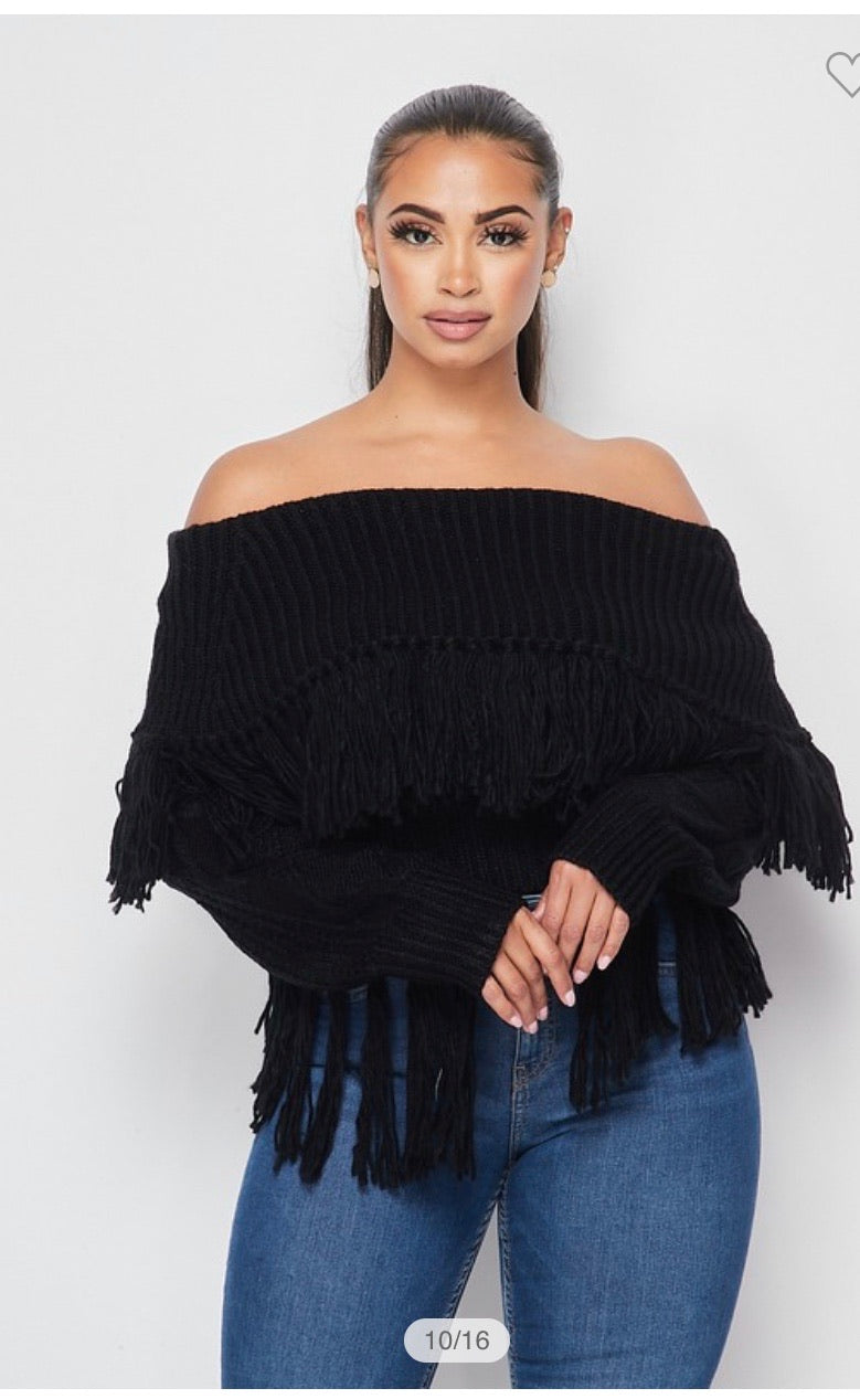 Off the shoulders sweater
