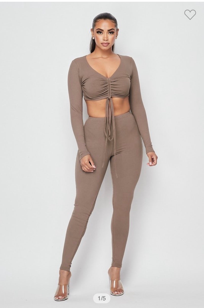 Cocoa Tied Two Piece