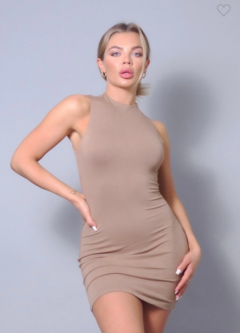 Mocha Bodycon Dress