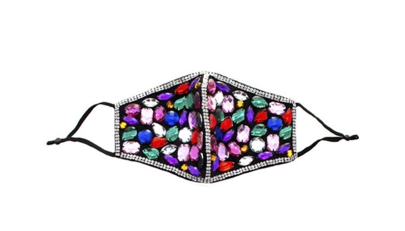 Jewel studded mask