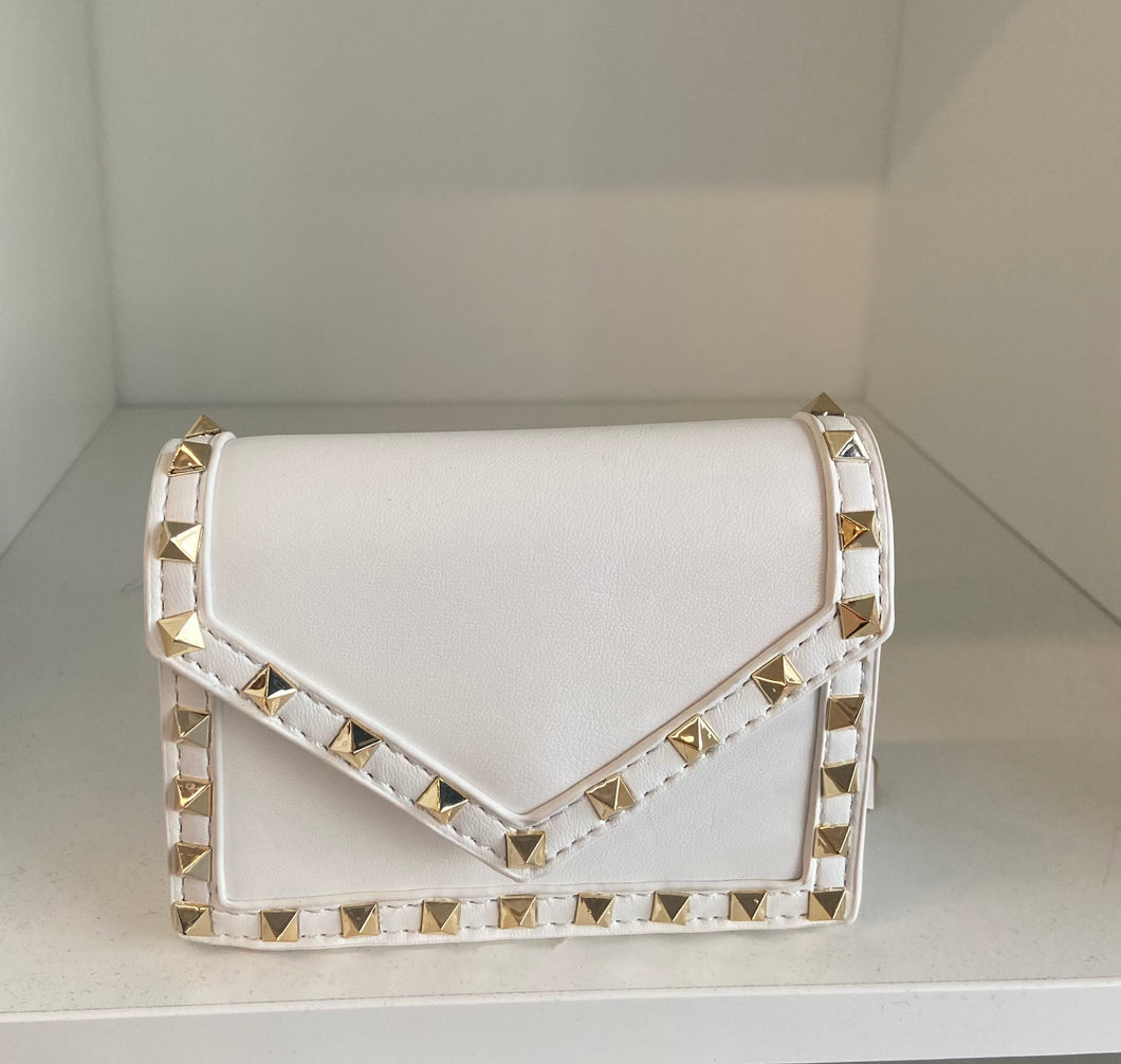 Mini Square Studded Crossbody
