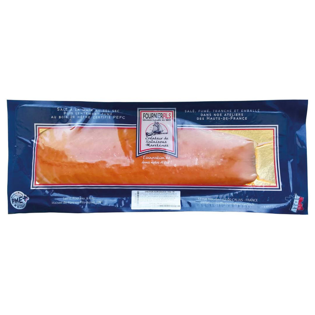 4-Filet de saumon fumé tranché 1 kg