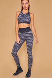 Military Inspired Printed Seamless Leggings Negra