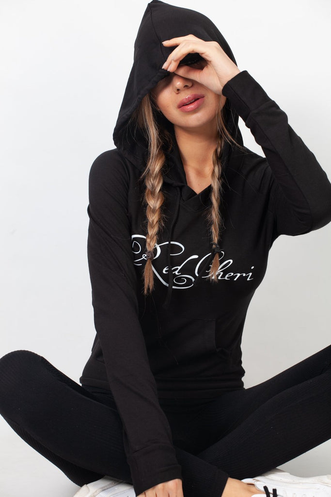 Red Cheri Everyday Sudaderas con capucha Negro