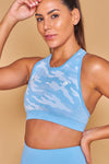 Military Inspired Printed Seamless Bra Azul