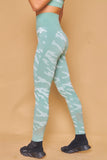 Military Inspired Printed Seamless Leggings Verde