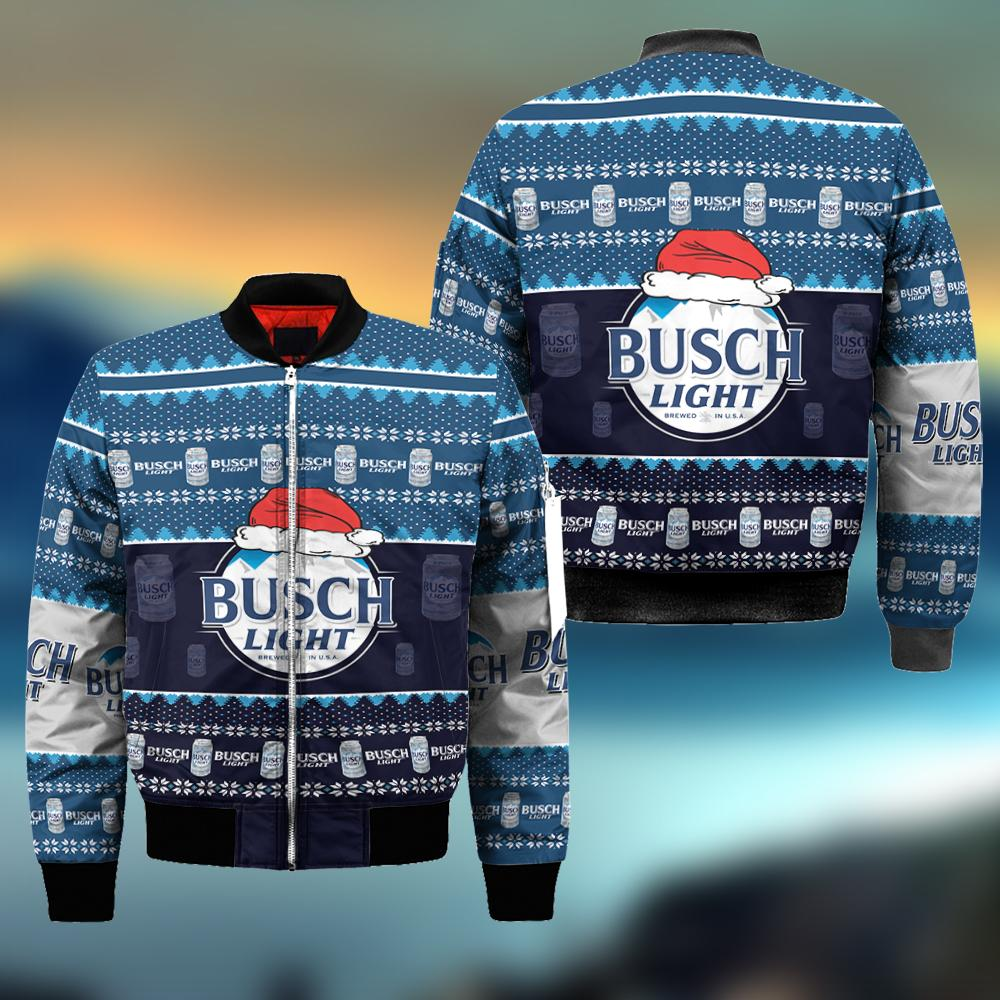 Busch Light Ugly Christmas Sweatshirt Hoodie All Over Printed DICT259