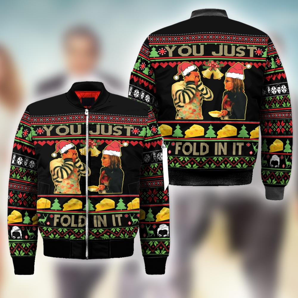 Schitt's Creek you just fold it in Ugly Christmas Sweatshirt Hoodie All Over Printed DICT266