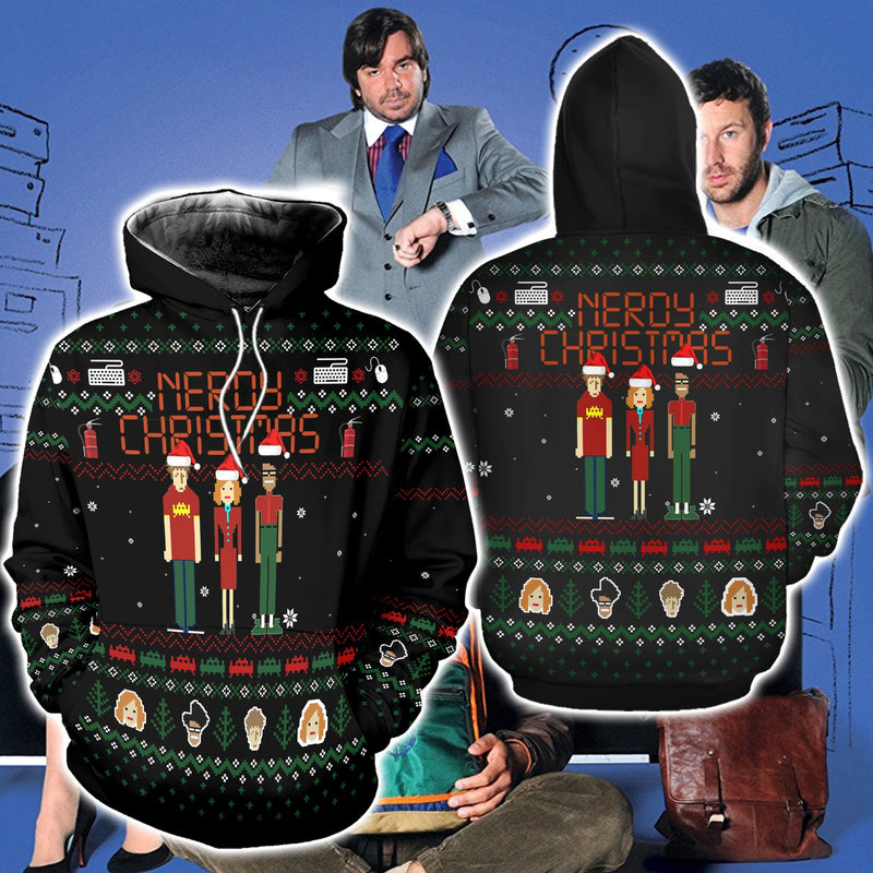 Let It Crowd Ugly Christmas Sweatshirt Hoodie All Over Printed DICT233