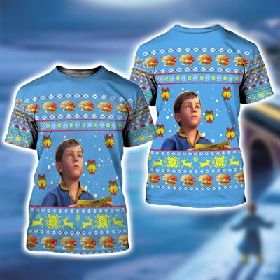 The Polar Express Ugly Christmas Sweatshirt Hoodie All Over Printed DICT268