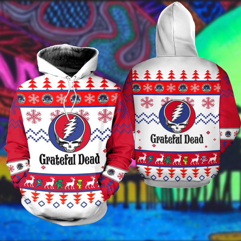 Grateful Dead Ugly Christmas Sweatshirt Hoodie All Over Printed DICT257