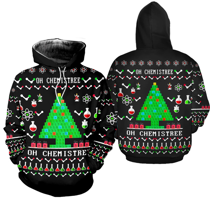 Chemistry Tree Ugly Christmas Sweatshirt Hoodie All Over Printed DICT260