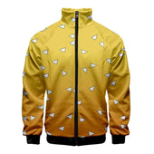 Demon Slayer Zenitsu Pattern Bomber Jacket