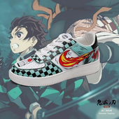 Demon Slayer Tanjiro Fire Breathing Shoes