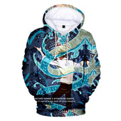 God of High School Jin Mori Anime Aesthetic Hoodie