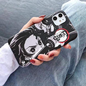 Demon Slayer Tanjiro Sketch iPhone Case