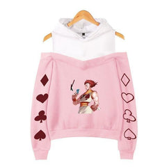 Hisoka Magician Off Shoulder Fleece