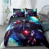 Overlord Ainz x Albedo Bedsheet and Pillowcase Set