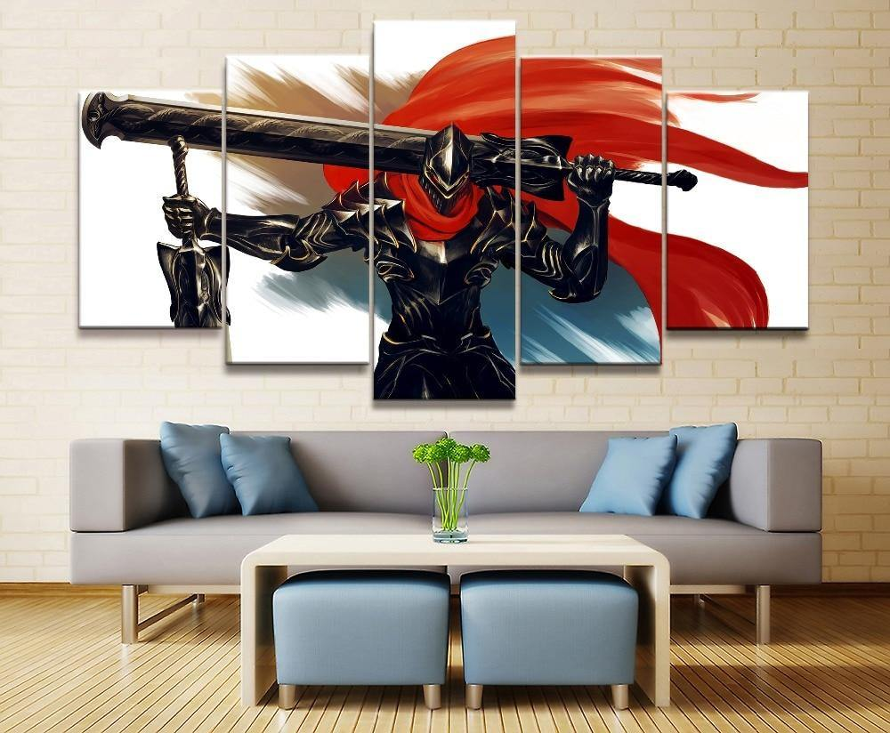 5 Panel Anime Wall Art