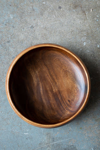Large Acacia Wood Bowl