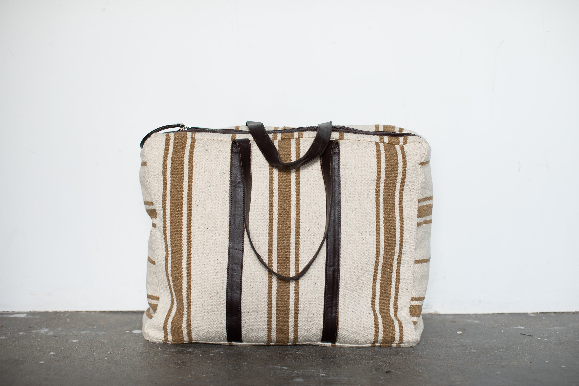 Cotton Striped Weekender Bag