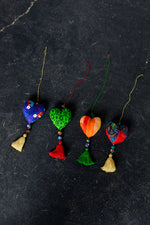 Load image into Gallery viewer, Sari Heart Ornaments