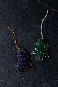 Hand-Stitched Ornaments