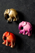 Load image into Gallery viewer, Small Wooden Coloured Elephants