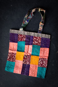 Silk Patchwork Tote