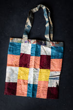 Load image into Gallery viewer, Silk Patchwork Tote