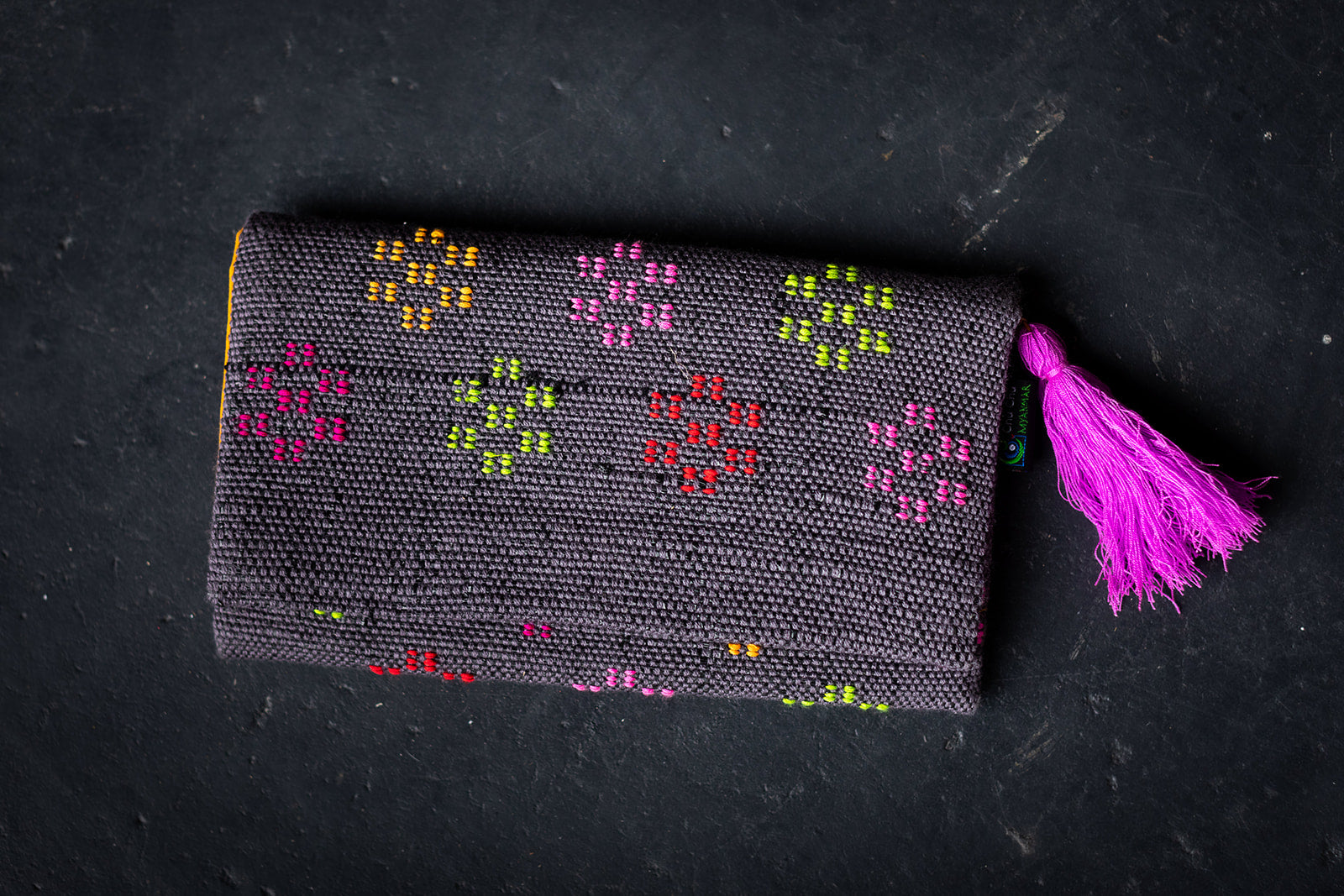 Woven Clutch with Tassel