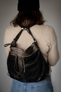 Convertible leather purse/backpack