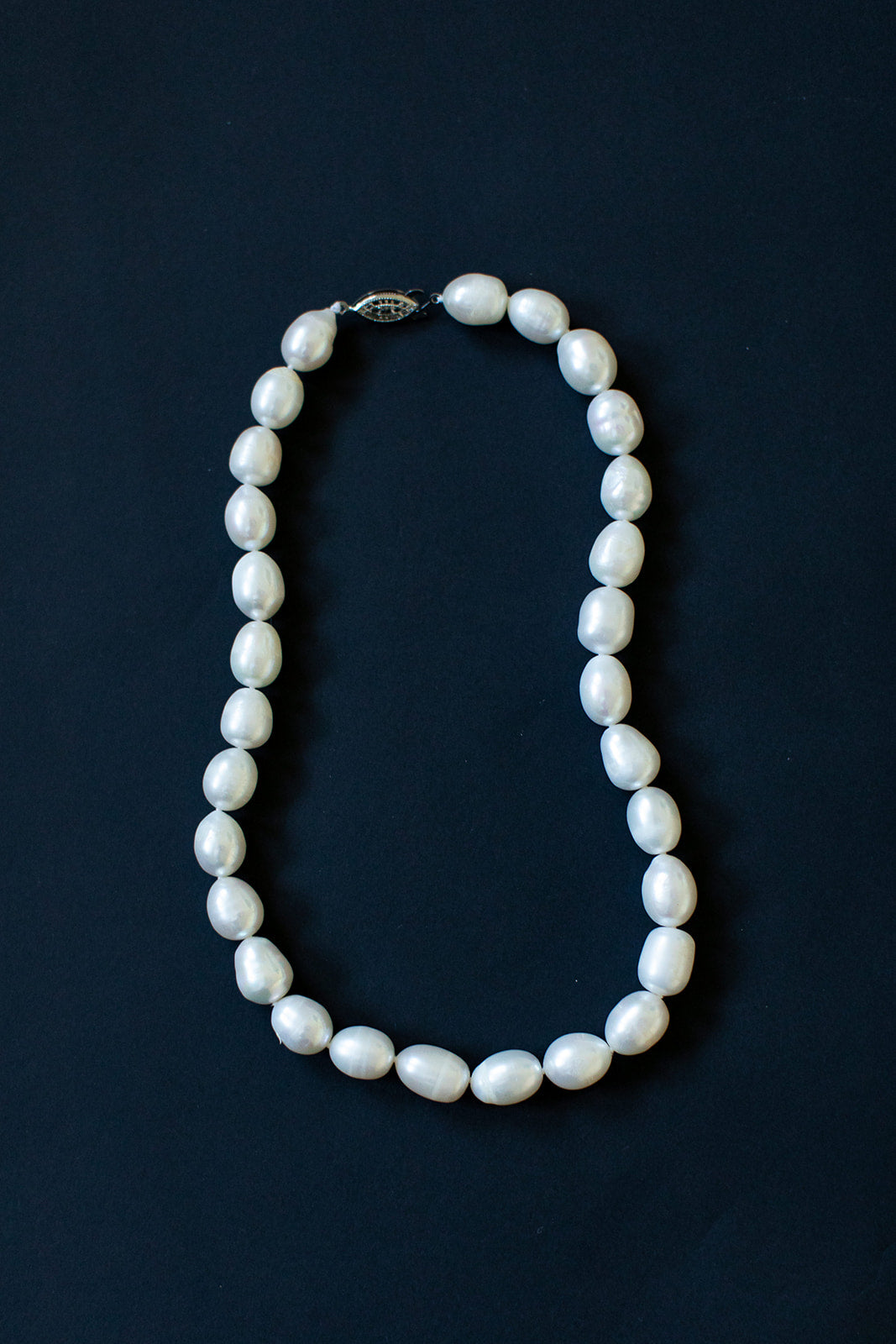 String of Large Oval Pearls