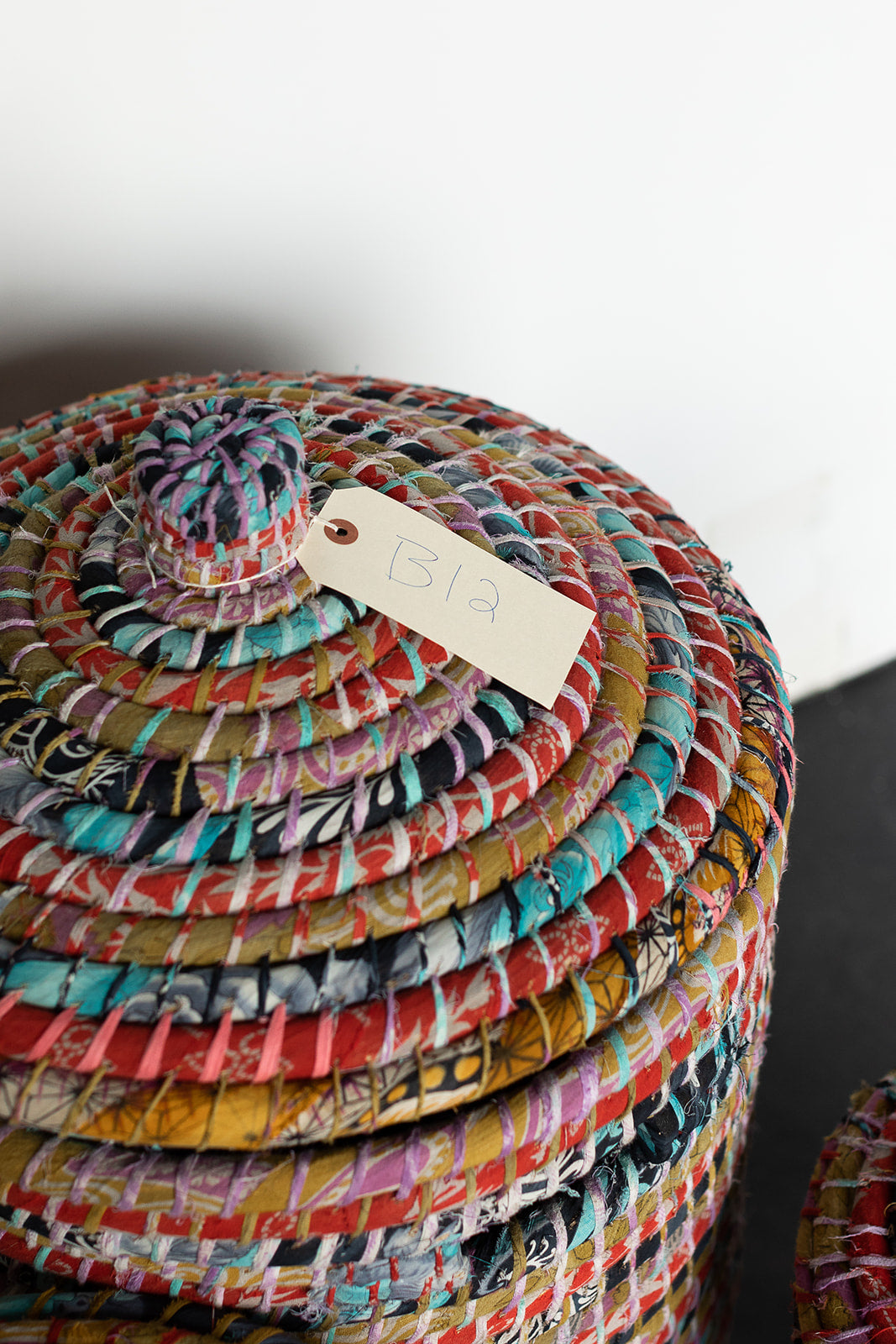 Recycled Sari Nesting Baskets - B12