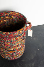 Load image into Gallery viewer, Recycled Sari Basket B26