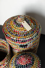 Load image into Gallery viewer, Recycled Sari Nesting Baskets - B5