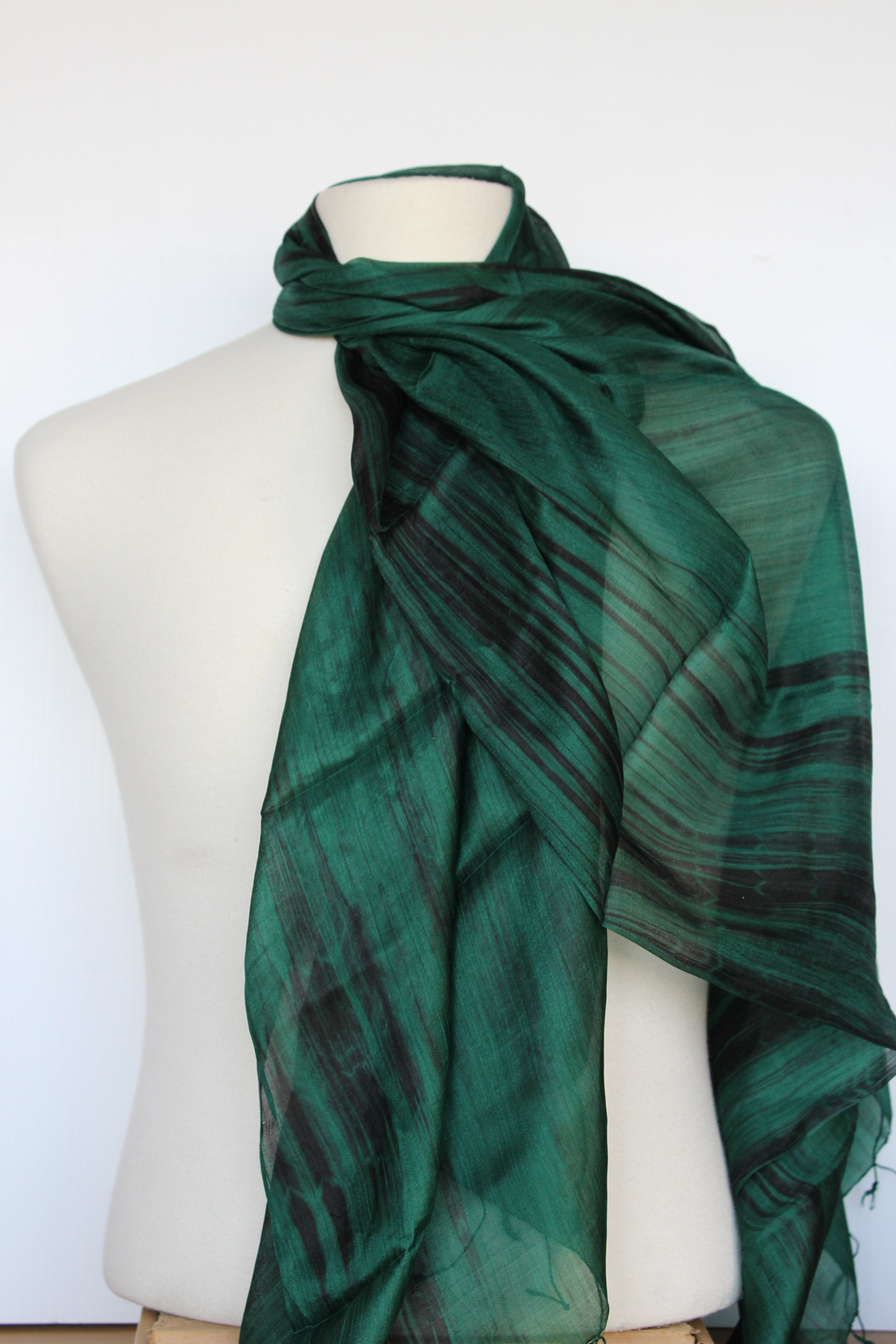 Emerald Silk Scarf