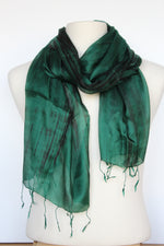 Load image into Gallery viewer, Emerald Silk Scarf