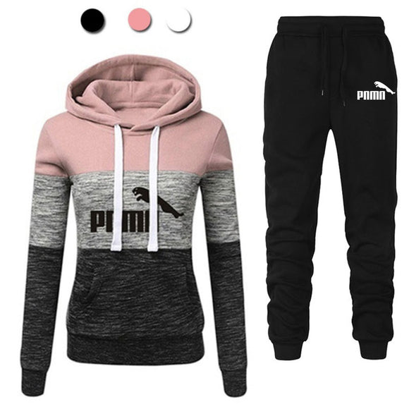 Casual Tracksuit Women Two Piece Set